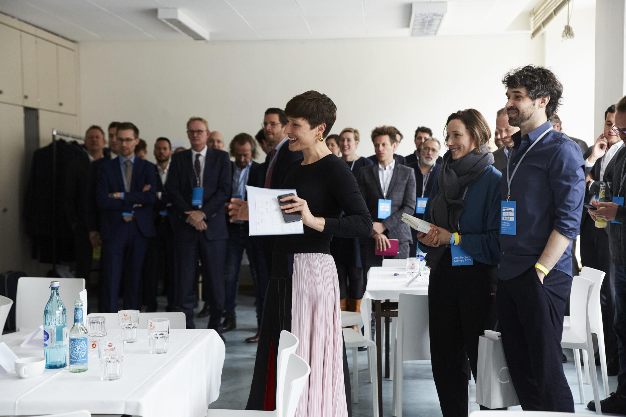 Nadin Heinich, Moderation Speed Dating, Architecture Matters Konferenz 2019 in der Alten Akademie München