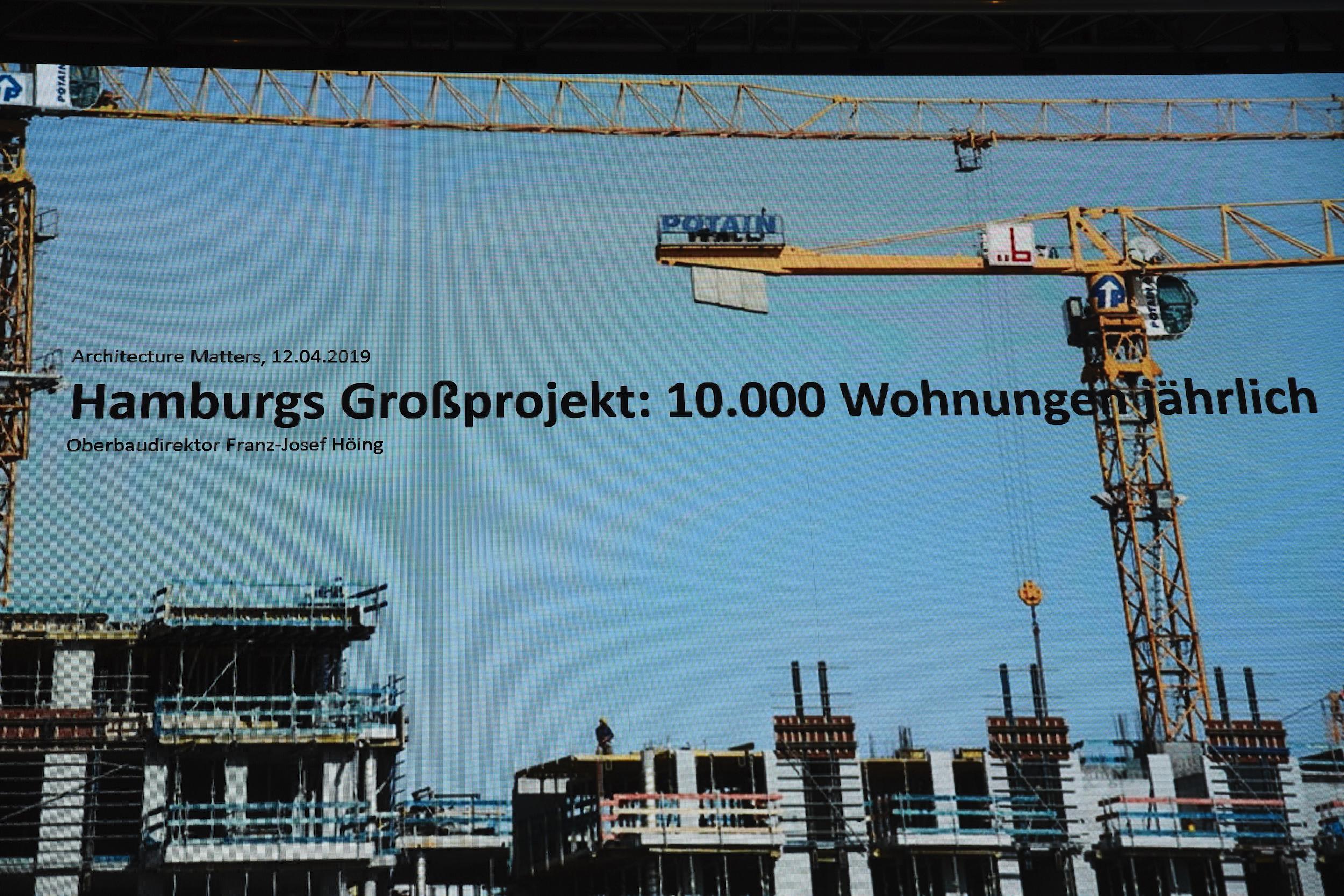 Vortrag Josef Höing, Architecture Matters 2019 in der Alten Akademie München
