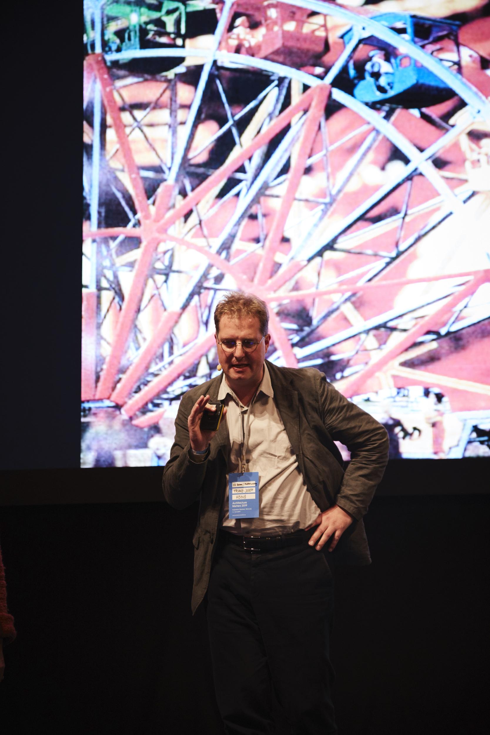 Vortrag Franz-Josef Höing, Architecture Matters Konferenz 2019 in der Alten Akademie München