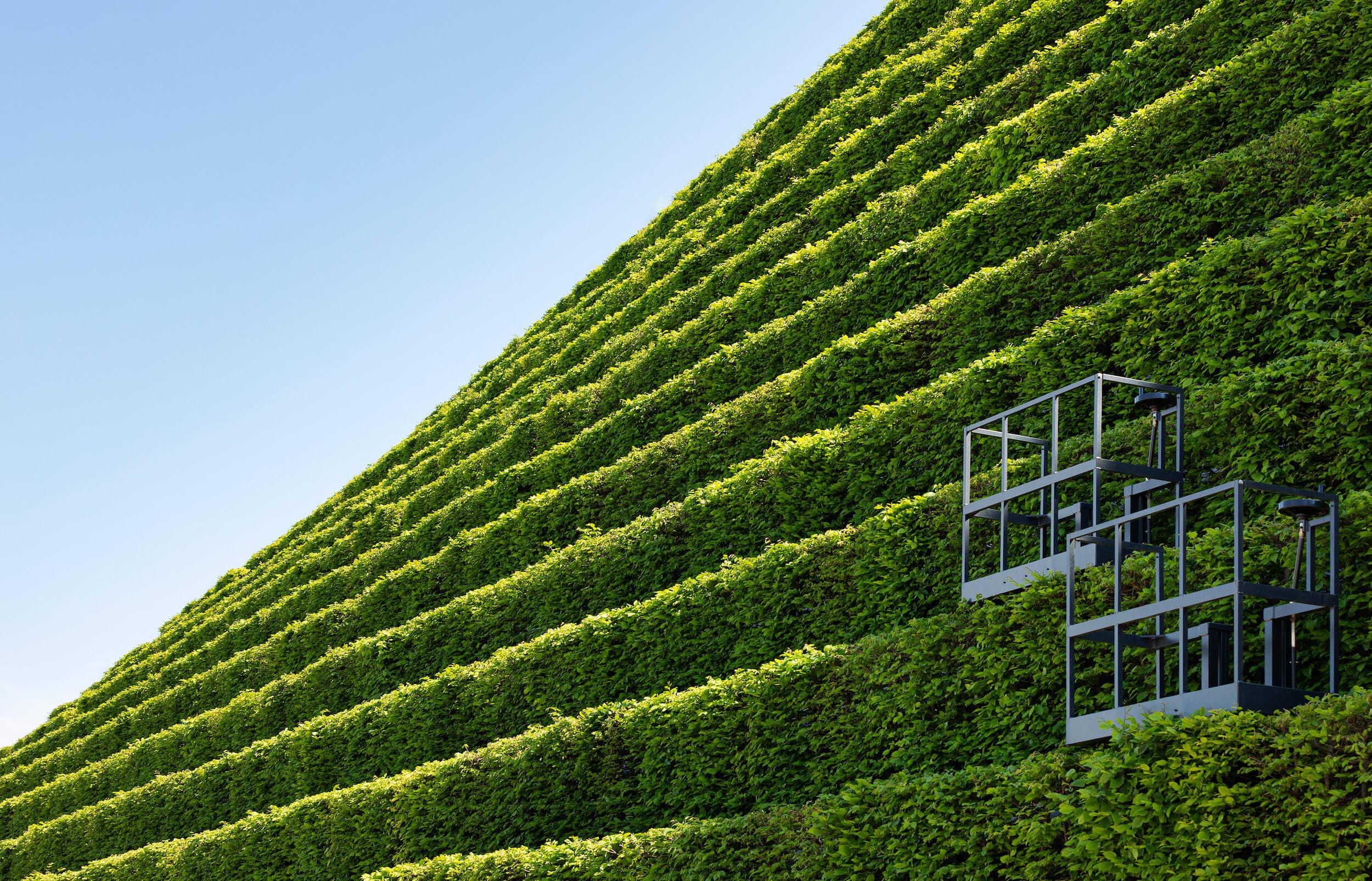 Kö-Bogen II, Düsseldorf, Europas größte Grünfassade, nachhaltige Architektur