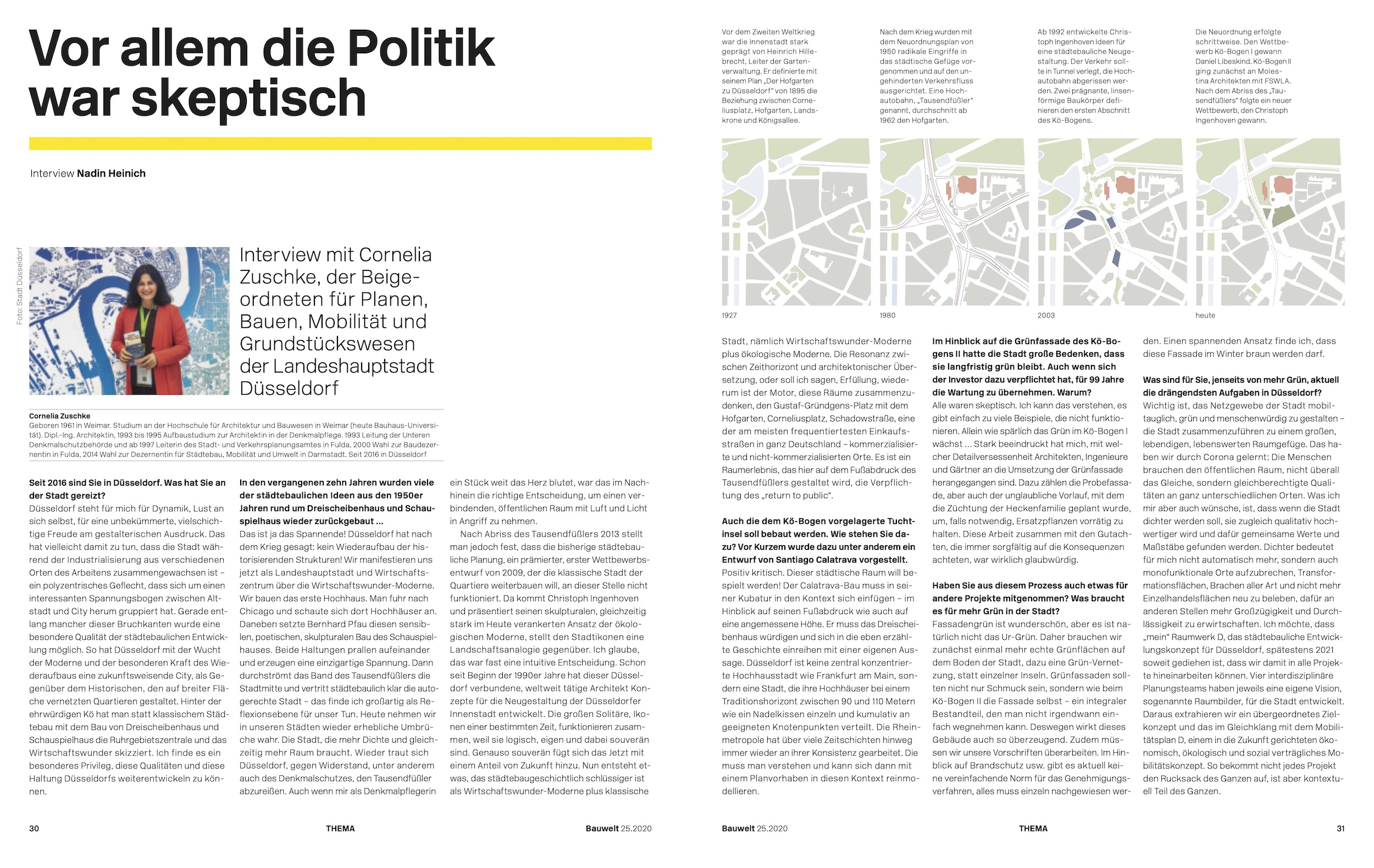 Interview Nadin Heinich mit Cornelia Zuschke, LH Düsseldorf