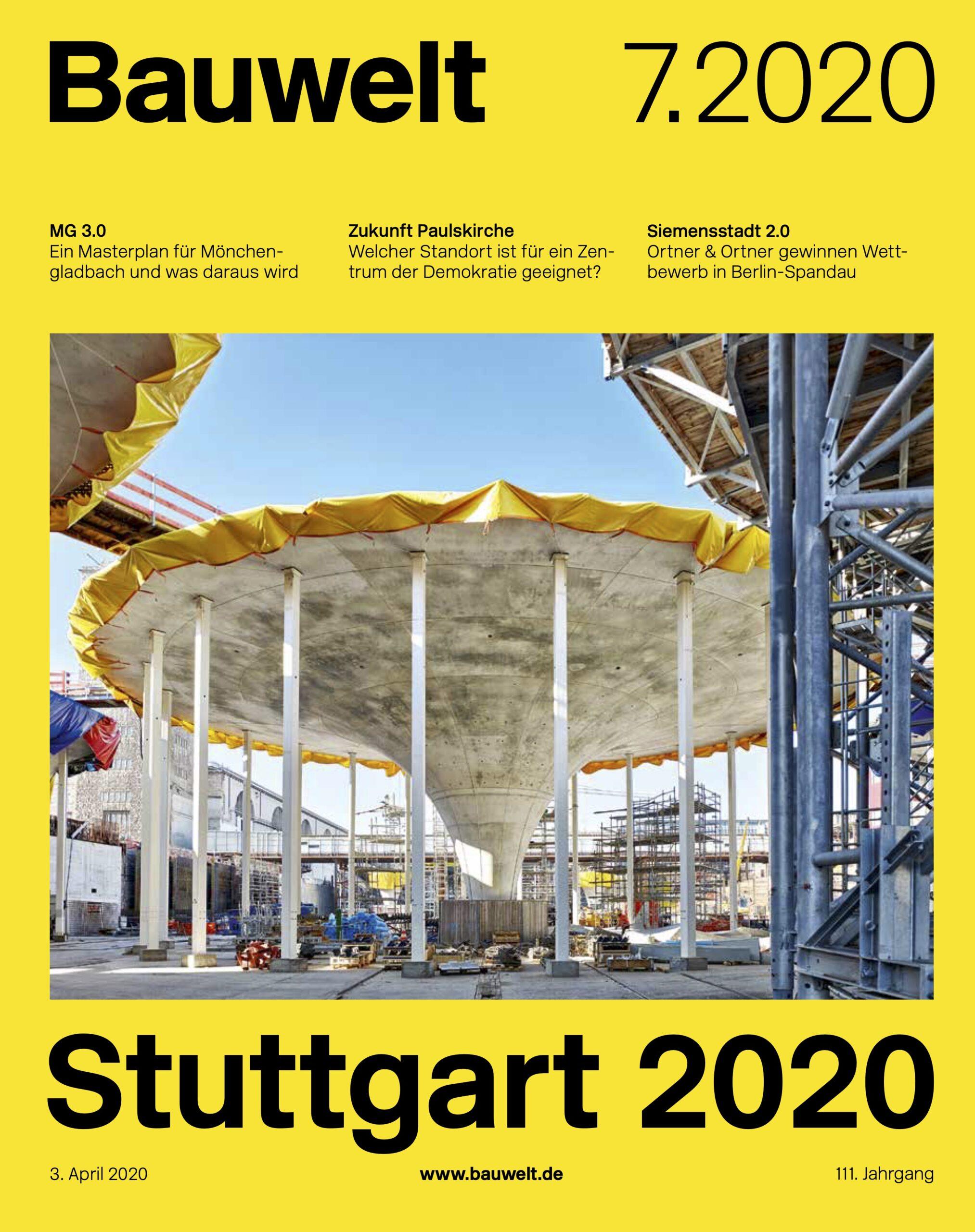 Cover Bauwelt Magazin über Stuttgart 2020