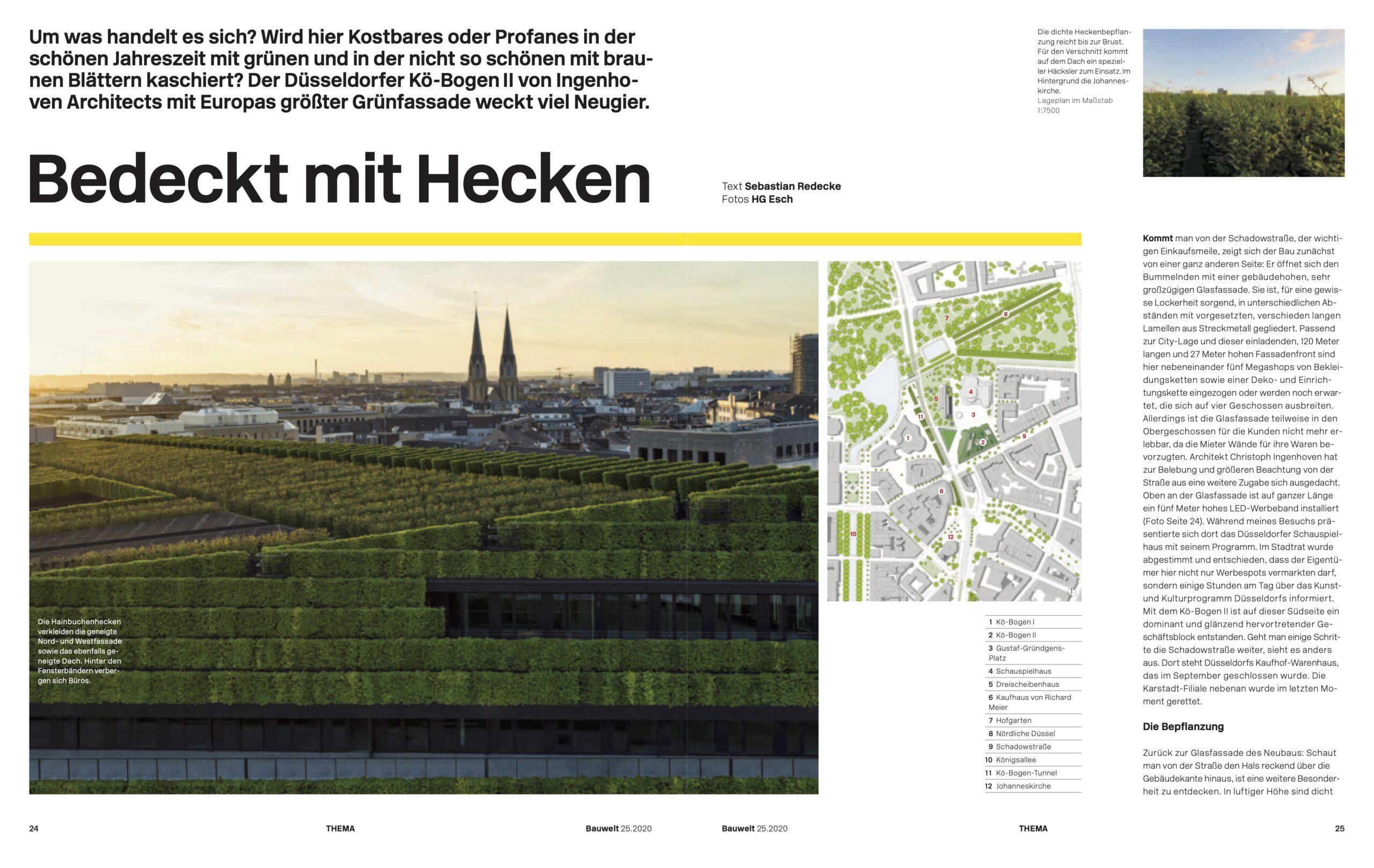 Der Düsseldorfer Kö-Bogen II von Ingenhoven Architects mit Europas größter Grünfassade