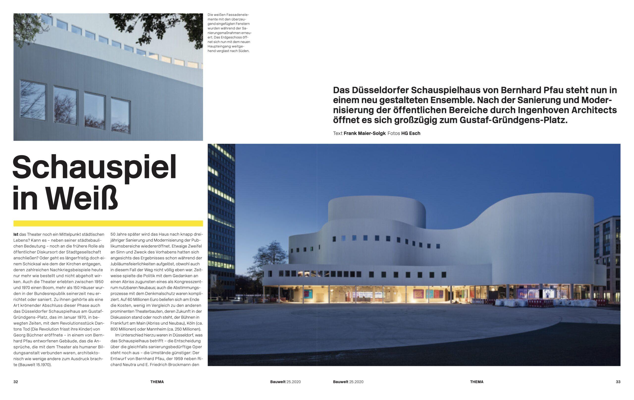 Schauspielhaus Düsseldorf von Ingenhoven Architects Bauwelt Düsseldorf 2020