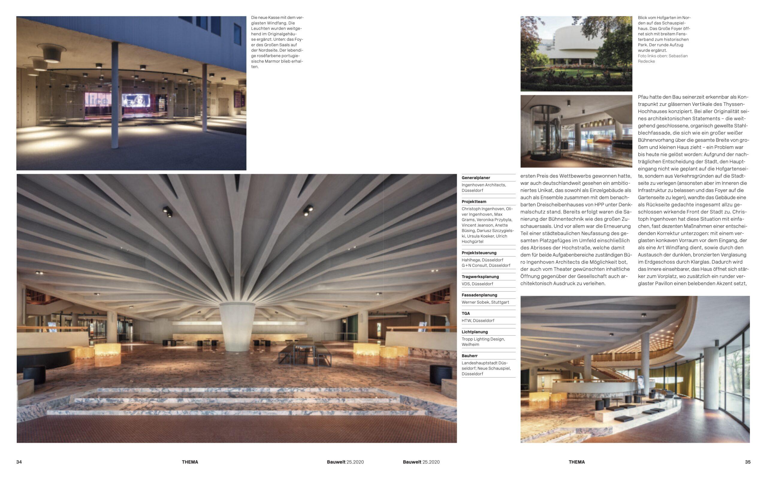 Bauwelt Düsseldorf 2020 Schauspielhaus Düsseldorf