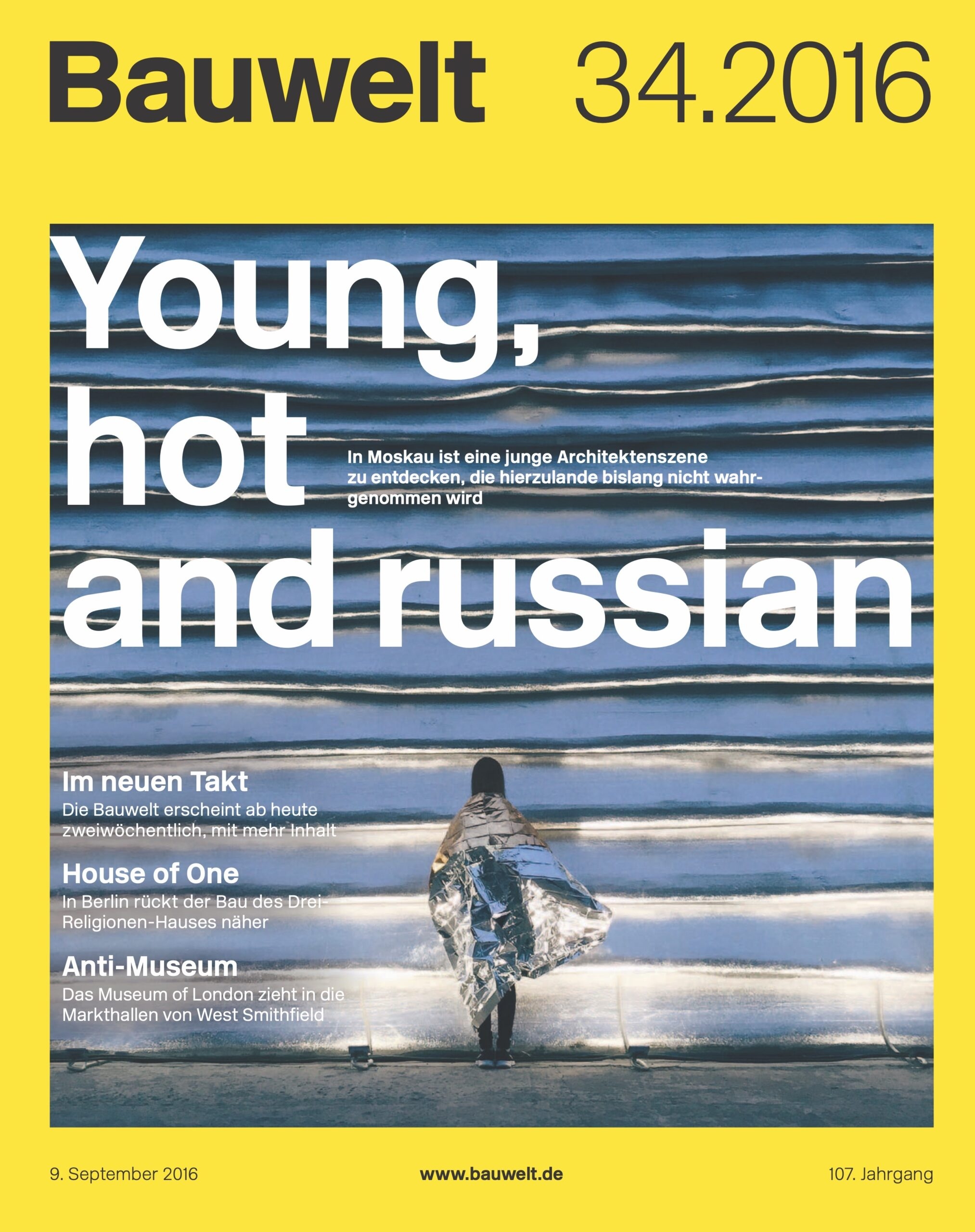 Cover Bauwelt Young, hot and Russian