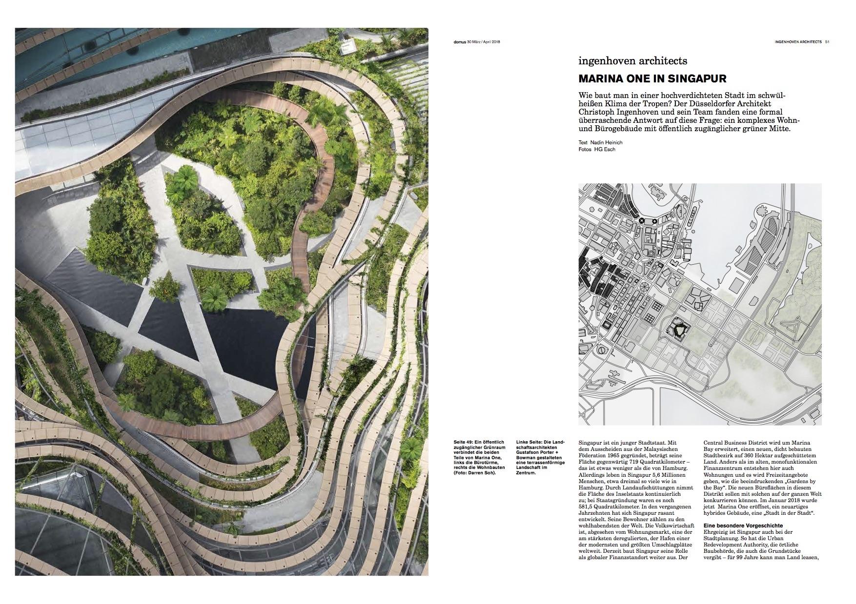 domus über Marina One, Ingenhoven Architects