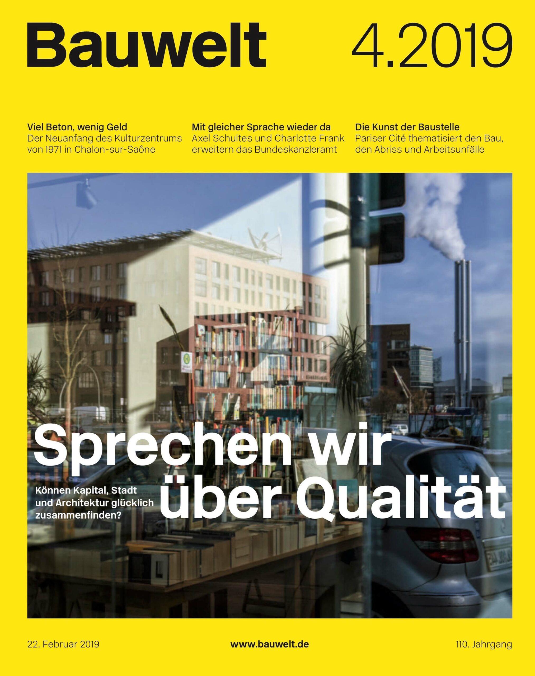 Cover Bauwelt
